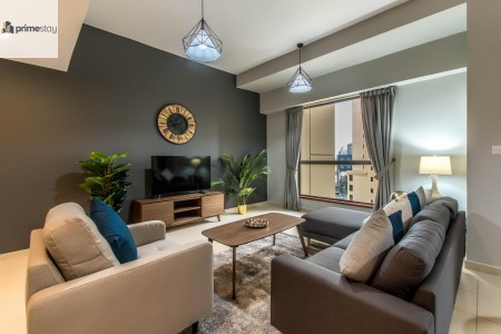 Brand-new Luxury Beach-front 2BR with Marina View
